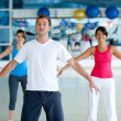 Foto Stock: Gym group stretching