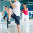 Gym group exercising — Stock Photo