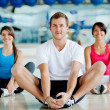 Gym group stretching — Stock Photo