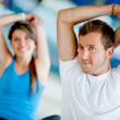 Stock Photo: Gym stretching