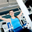 Woman exercising at the gym — Stock Photo #7764066
