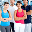 Gym smiling — Stock Photo #7764095