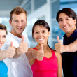 Gym smiling — Stock Photo #7764099