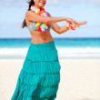Hawaiian woman dancing - Stock Photo