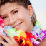 Hawaiian woman — Stock Photo