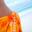 Woman wearing a sarong — Stock Photo