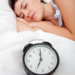 Beautiful woman sleeping - Stock Photo
