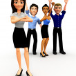 3D Successful business group — Stock Photo