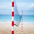 Beach volleyball net — Stock Photo #7764382