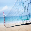 Beach volleyball net - 图库照片