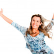Carefree woman - Stock Photo