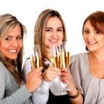 Business women celebrating — Stock Photo