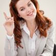 Clever business woman — Stock Photo