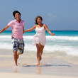 Couple at the beach - Foto Stock