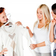 Women trying clothes — Stock Photo #7764519
