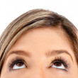 Stock Photo: eyes looking up