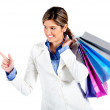 Shopping woman pointing — Stock Photo #7764571