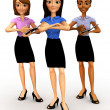 3D business women — Stock Photo