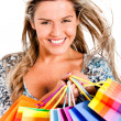 Stock Photo: Gorgeous shopping woman