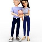 3D Home finances — Stock Photo