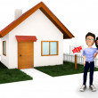 Stock Photo: Couple buying house