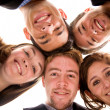 Business team - heads together — Stock Photo #7764731