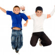 Kids jumping — Stock Photo
