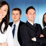 equipo de negocios líder empresaria — Foto de Stock   #7764743