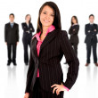 Business team with a businesswoman leading — Stock Photo #7764748