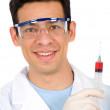 Royalty-Free Stock Photo: Male doctor with a syringe