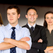 Confident business man and his business team — Stock Photo #7764778