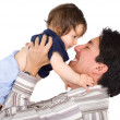 Baby girl and her dad — Stock Photo