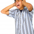 Can't stand the noise! — Stock Photo