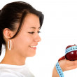 Beautiful girl with apple — Stock Photo #7764812