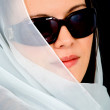 Fashion woman portrait with sunglasses — Stock Photo #7764835