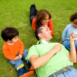 Family lifestyle outdoors — Stock Photo