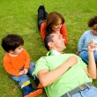 Family lifestyle outdoors - Stock Photo