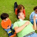 Family lifestyle outdoors — Stock Photo