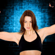 Fitness instructor in a gym - Stock fotografie