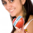 Girl on a healthy diet — Stock Photo