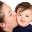 Stock Photo: Baby and mother portrait