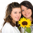 Beautiful sisters portrait — Stock Photo