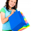 Stock Photo: Teenage girl with shopping bags
