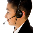 Customer service boy — Stock Photo