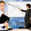Businessman on a business presentation - Foto Stock