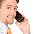 Stock Photo: Business mtalking on his pda