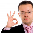 Business man - ok sign - Stock Photo