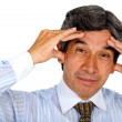 Business man stressed - Stock Photo