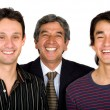 Business father with his sons — Stock Photo