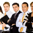 Businesswoman leading a team — Stock Photo
